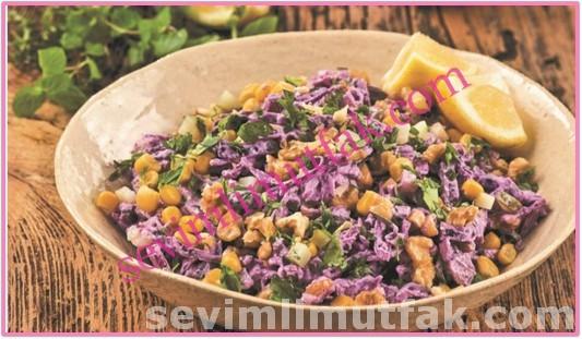 Sotelenmiş Mor Lahana Salatası Nasıl Yapılır?